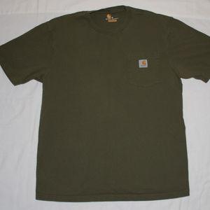 Carhartt Green Original Fit Pocket T-Shirt